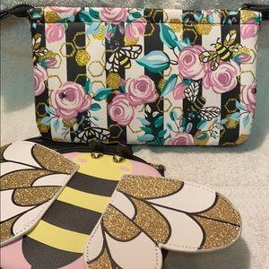 New Betsey Johnson 2 piece wallet set.